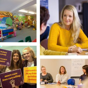 The childrens playroom in the York refuge, an IDAS support group, working with schools and colleges, one-to-one mentoring